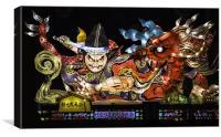 Japanese festival lanterns, Canvas Print
