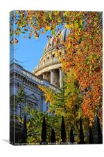 Autumn colours St. Pauls cathedral, Canvas Print