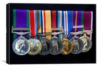 Campaign Medals, Canvas Print