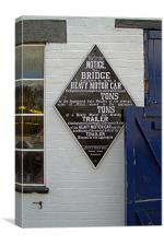 Bridge Weight Sign, Canvas Print