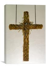 Harvest Festival Cross, Canvas Print