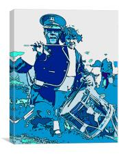 Drummer and Child, Canvas Print