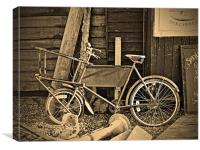 The Fishmongers Bicycle, Canvas Print