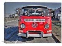 VW Camper Van 2, Canvas Print
