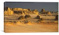 Golden Sunset Glow at Mungo, Canvas Print