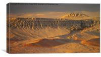 Sunset in an Ancient Landscape, Canvas Print