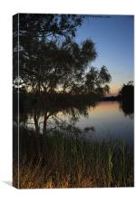 Murray River Sunset Series 2, Canvas Print