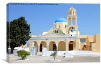 Church, Oia, Santorini, Greece Islands, Canvas Print