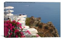 Oia, Santorini, Greece Islands, Canvas Print
