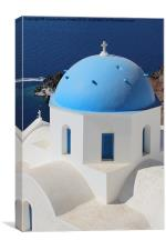 Church, Oia, Santorini, Greece, Canvas Print
