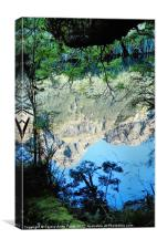Mirror Lake Three New Zealand, Canvas Print