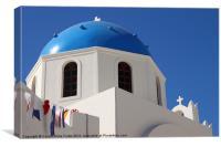 Church Dome, Oia, Santorini, Greece, Canvas Print