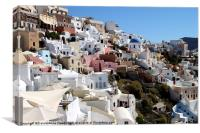 Oia Village, Santorini, Greece, Canvas Print