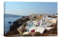 Oia and the Caldera, Santorini, Canvas Print