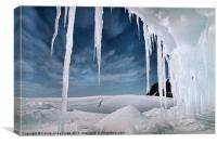 Ice Cave Cape Hallett Antarctica, Canvas Print