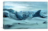 Pressure Ridges Antarctica, Canvas Print