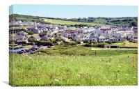 Broadhaven Village Pembrokeshire Wales, Canvas Print