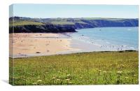 Broadhaven Beach Pembrokeshire Wales, Canvas Print