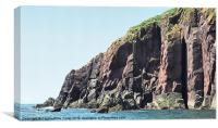 Caldey Island  Pembrokeshire Wales, Canvas Print