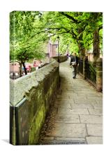 Chester City Walls, Canvas Print