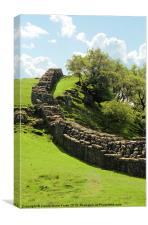 Hadrians Wall Marching Across The Landscape, Canvas Print