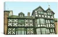 Ludlow Half Timbered Tudor Building, Canvas Print