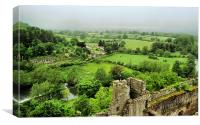 View From Ludlow Castle, Canvas Print