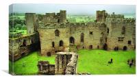 Ludlow Castle, Canvas Print