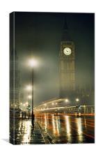 A Glowing Big Ben, Canvas Print