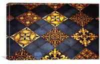 Floor Tiles Saint Davids Pembrokeshire, Canvas Print