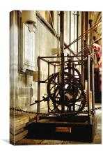 The Salisbury Cathedral clock, Canvas Print