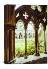 Salisbury Cathedral Cloisters, Canvas Print