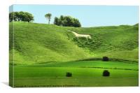 White Horse at Cherhill, Canvas Print