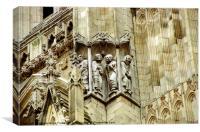York Minster Sculptures, Canvas Print