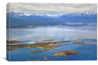 The Beagle Channel Aerial, Canvas Print