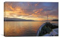 Sunset on the Beagle Channel, Canvas Print
