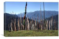 Prayer Flags in the Eastern Himalaya, Canvas Print