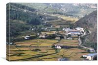 Bhutan from the Air, Canvas Print