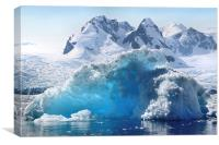 Iceberg in Cierva Cove, Antarctica, Canvas Print