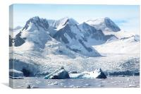 Cierva Cove Glaciers & Iceberg, Canvas Print