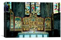 High Altar Lichfield Cathedral England, Canvas Print