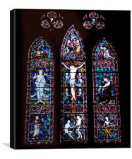 Stained Glass Lichfield Cathedral, Canvas Print
