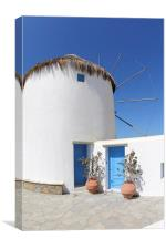Windmill House Mykonos, Canvas Print