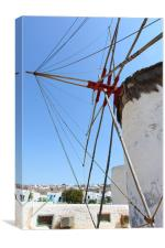 Traditional Windmills on Mykonos, Canvas Print