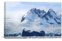 Cierva Cove Iceberg & Glaciers, Canvas Print