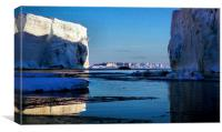 Tabular Icebergs, Cape Roget, Antarctica, Canvas Print