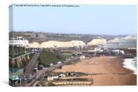 Brighton Beach & South Downs National Park, Canvas Print
