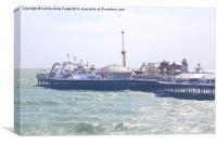 Brighton Pier From The Ferris Wheel, Canvas Print