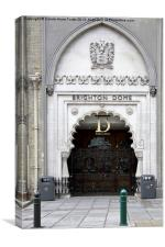 Brighton Dome Entrance, Canvas Print