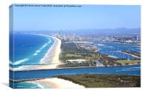 The Spit & Surfers Paradise Along the Gold Coast, Canvas Print